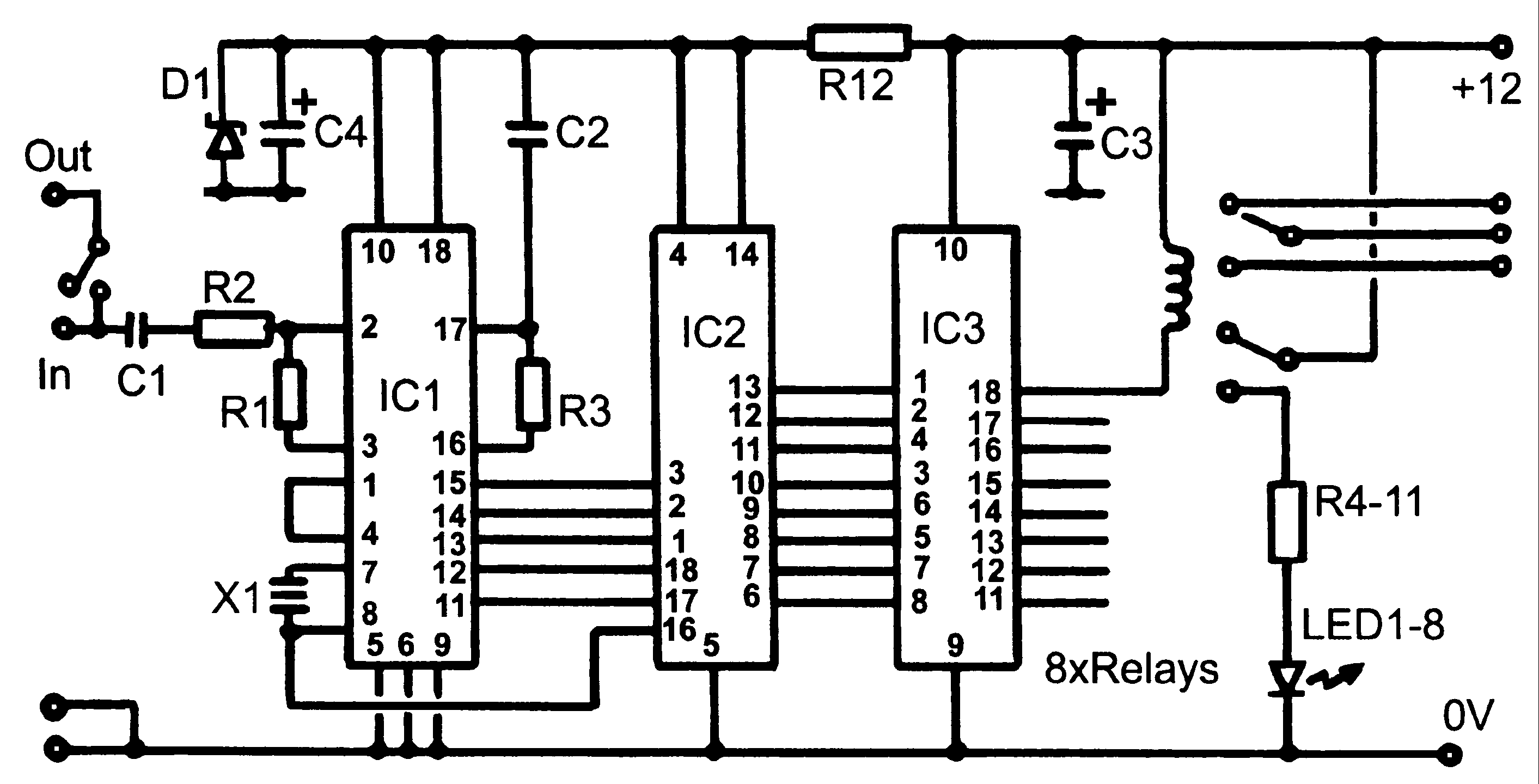 11 pin latching relay wiring diagram 11 pin relay base